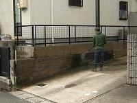 フェンスと塀の高圧洗浄